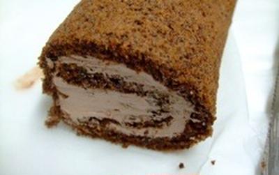 米粉のチョコロールケーキ