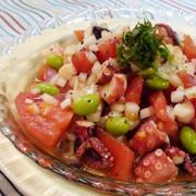 タコとトマトのバルサミコマリネ