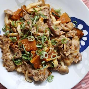 簡単!ご飯がすすむ*豚肉とかぼちゃの味噌炒め*