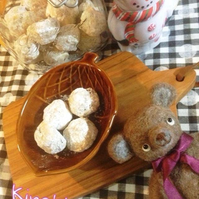 【クリスマス】お手軽☆シュトーレン風スノーボールクッキー