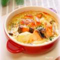 鮭とじゃがいもの豆乳グラタン by mariaさん