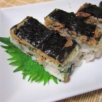 鯵の蒲焼缶で押し寿司