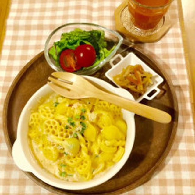 明太子豆乳チーズパスタ&ソーイングボックスと、、、