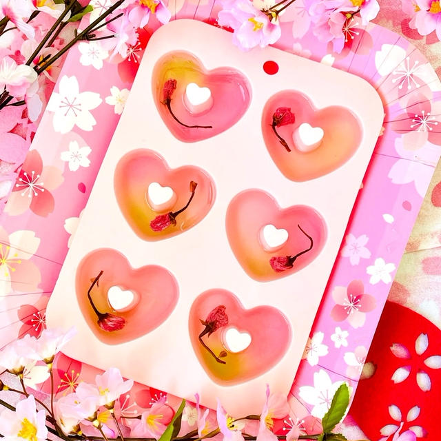 桜のリキュールゼリー♡