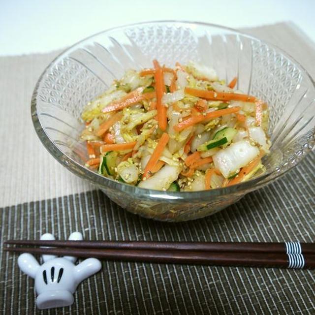 白菜の彩りサラダ♪梅肉ポン酢和え♪