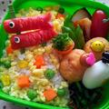 子供が喜ぶ☆簡単☆ウインナーで「こいのぼり」のおかず弁当