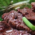 焼肉用牛肉スライスで「づけ」を作ってみた
