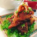 鶏皮の生姜焼き。 by Misuzuさん