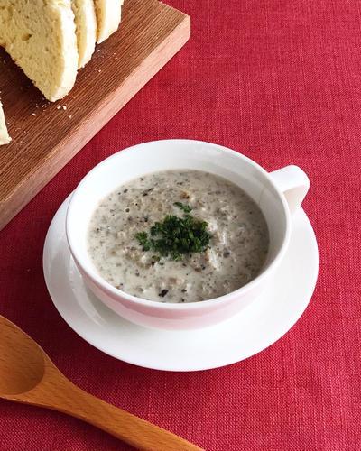 ★レシピ★3種のきのこのクリームスープ