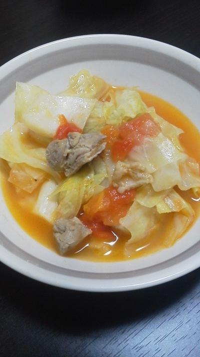 チキンとキャベツのトマト煮~最後の一片まで甘く~