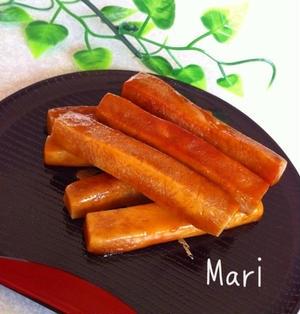 高野豆腐スイーツ♡かりっ!じゅわ〜♡黒糖かりんとう