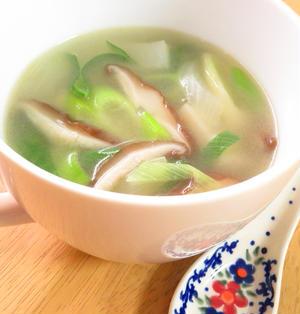 ほっこり簡単♪かぶと椎茸のネギ生姜スープ