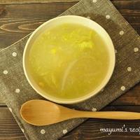 10分でできる朝ごはん~カラダの芯から温まる(^^♪白菜とコーンのスープ~