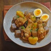 鶏手羽元とじゃが玉・こんにゃくの味噌煮