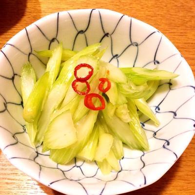 セロリ昆布茶漬☆