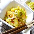 1行レシピ♪白菜・えのき・カニカマの生姜醤油和え
