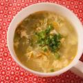 卵とレタスの中華スープ