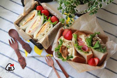 【親子弁】話題の!ポケットサンド弁当~Pocket sandwiches bento