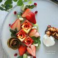 赤いフルーツでバレンタインフルーツカッティング by tamacoooさん