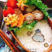 【ミルフィーユカツ】豚薄切り肉のぐるぐる巻きとんかつ【オブラートアート弁当】