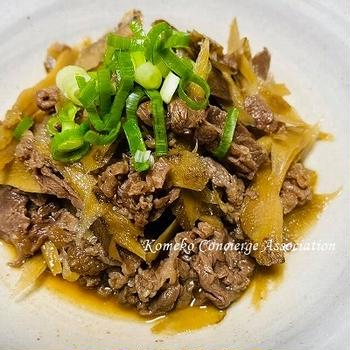 【Line公式】今週のレシピ『ごぼうと牛肉のしぐれ煮』をお届けします♪