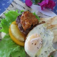 ココナッツ風味のカレーソースでハワイアン風ナンバーガー