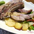 タジン鍋で塩スペアリブ&野菜の蒸し焼き