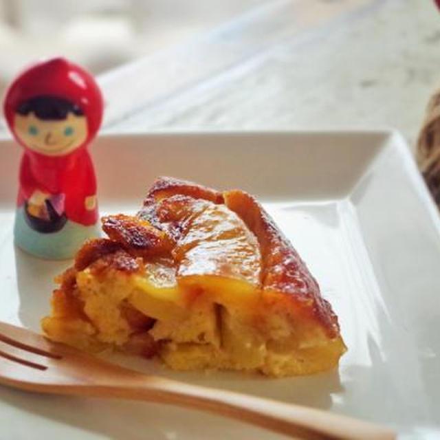 * フライパンで焼きっぱなし。マシュマロキャラメルの林檎ケーキ。*