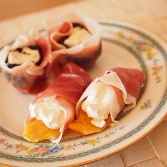 ■レシピ■パルマ産生ハムで簡単おつまみ ドライフルーツクリチ巻き その2