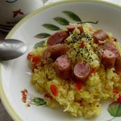 炊飯器で簡単ソーセージのサフランライス