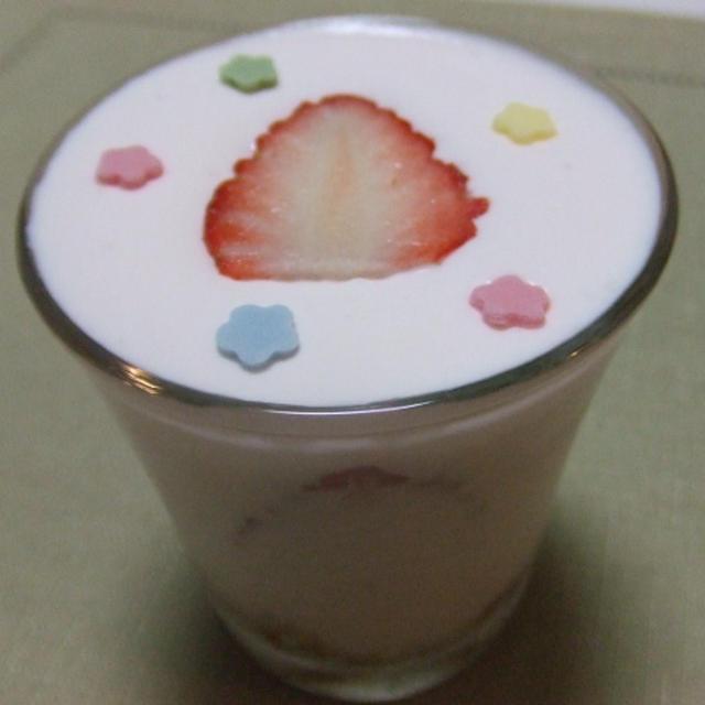 春スイーツ♪イチゴと桜の豆乳ティラミス