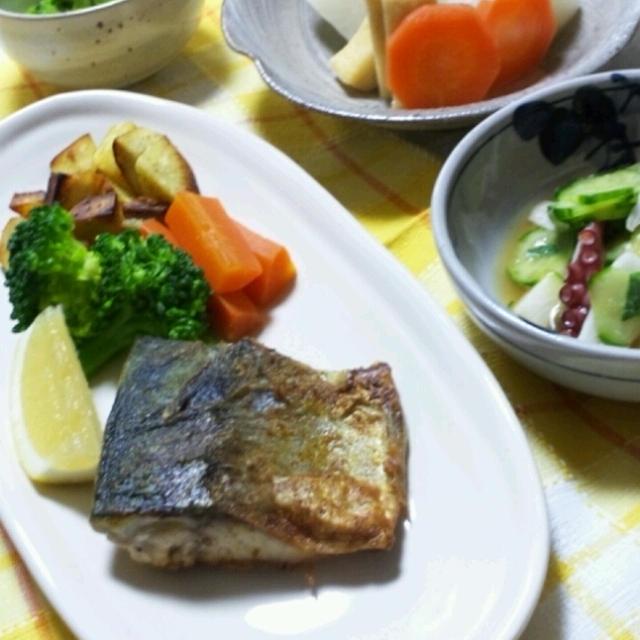 鯖のカレー風味ソテー