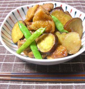 鶏肉とさつまいものはちみつ生姜煮