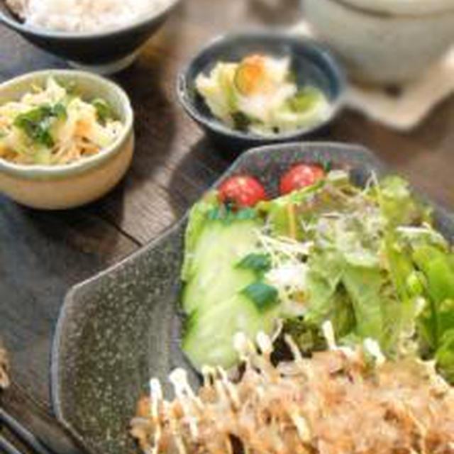 昼cafe~★豚肉のしょうが焼きおかかマヨのせ【レシピ】ネキリムシ