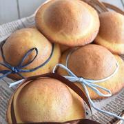 ホットケーキミックスを使って♪キュートな簡単ぼうしパン