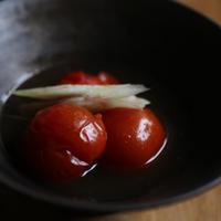 ミニトマトのだし浸し。