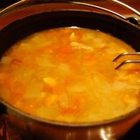 自家製ベーコンと玉ねぎ&トマトのスープ