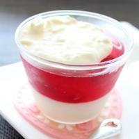 低糖質☆梅酢&クリームチーズヨーグルトの2層ゼリー