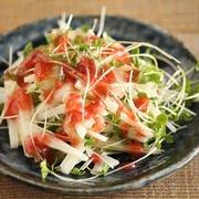 簡単・切るだけ♪長いもとブロッコリースプラウトの梅サラダ