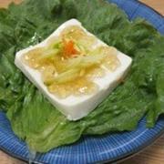 豆腐のベジタブルパスタのせ