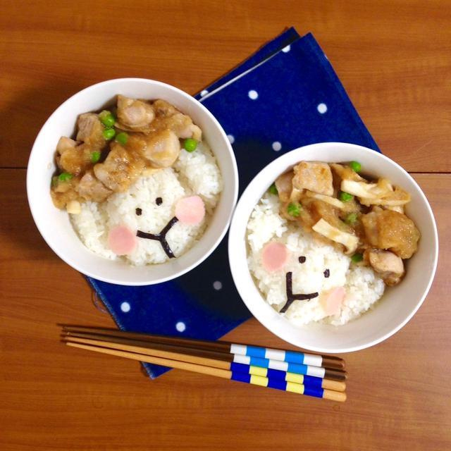 簡単朝ごはん!夏らしくさっぱり☆鶏もも肉のおろし酢醤油煮で「ヒツジ丼」