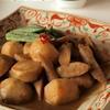 里芋とごぼうの五香粉風味の煮込まない味噌煮。