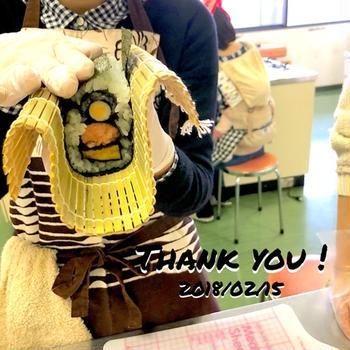 おひなさまの飾り巻き寿司◡̈♩R小学校家庭教育学級