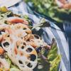 サラダチキンとれんこんの和風レモンドレッシングサラダ