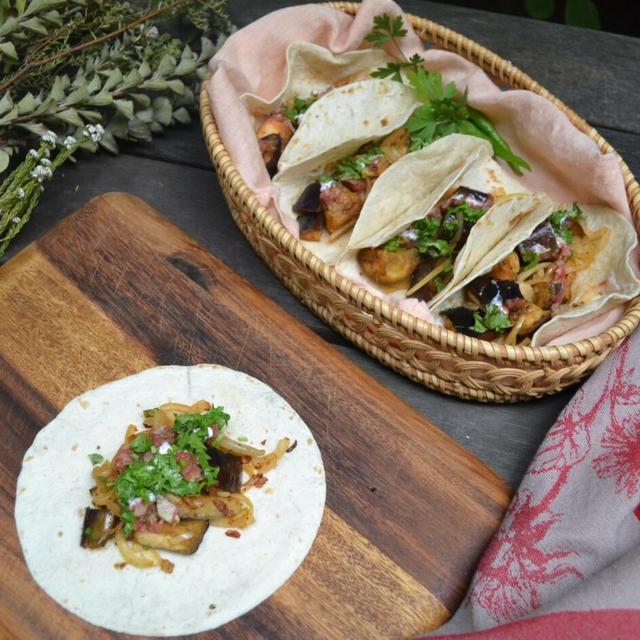 Eggplant Tacos 茄子のタコス