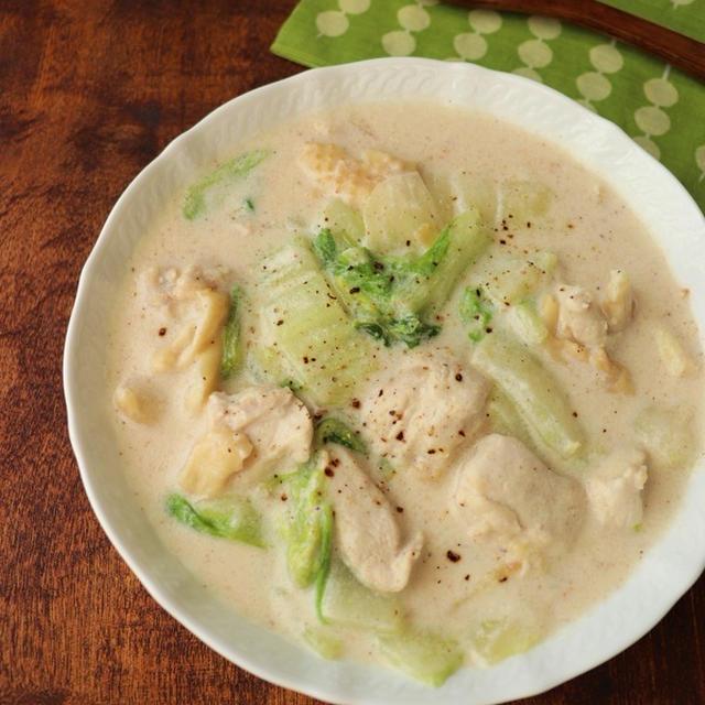 【スパイスアンバサダー】ナツメグ香る☆鶏むね肉と白菜のクリーム煮