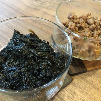 生海苔で作る海苔の佃煮&まぐろ肉味噌