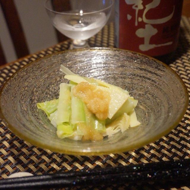 タケノコとうるいのタラコ和え、鯖缶で簡単鯖焼売、たけのこのパセリ味噌焼き