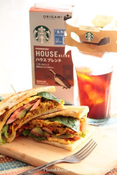 スターバックスコーヒー「ハウスブレンド」と神戸のコムシノワのハードブレッドでサンドイッチはいかが