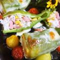 ■晩ご飯【ライスピーマンの丸ごとチーズ焼き】スキレット使用です♪